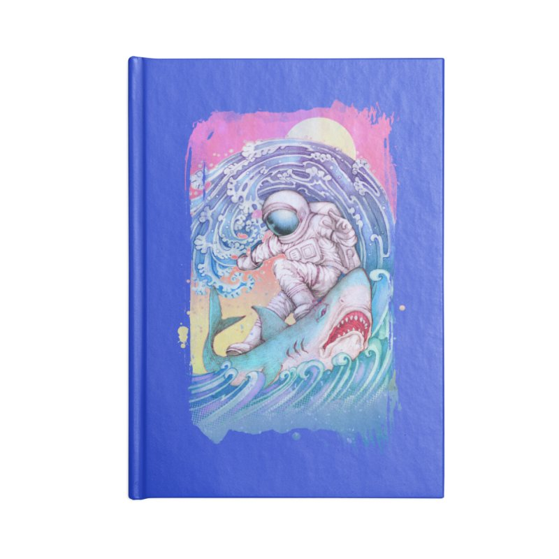 Shark Surfer Accessories Blank Journal Notebook by villainmazk's Artist Shop