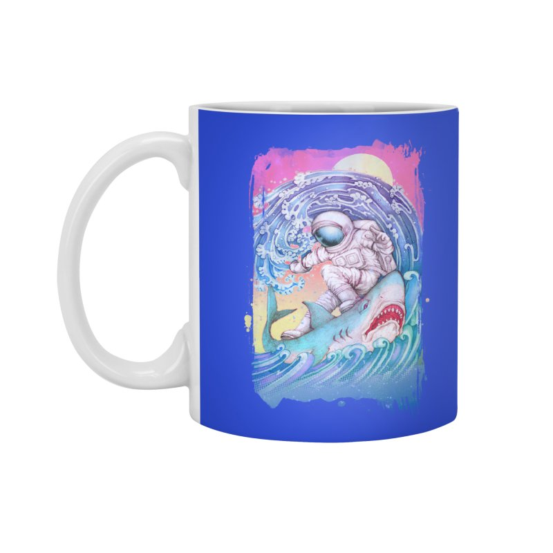 Shark Surfer Accessories Mug by villainmazk's Artist Shop