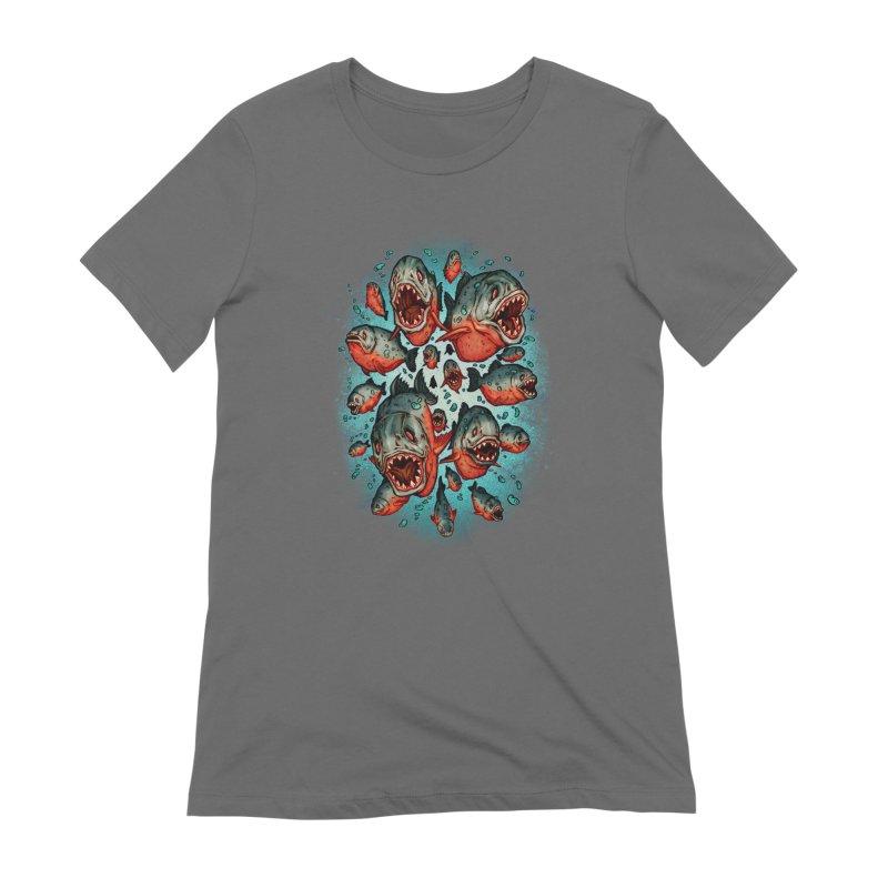 Frenzy Piranhas Women's T-Shirt by villainmazk's Artist Shop