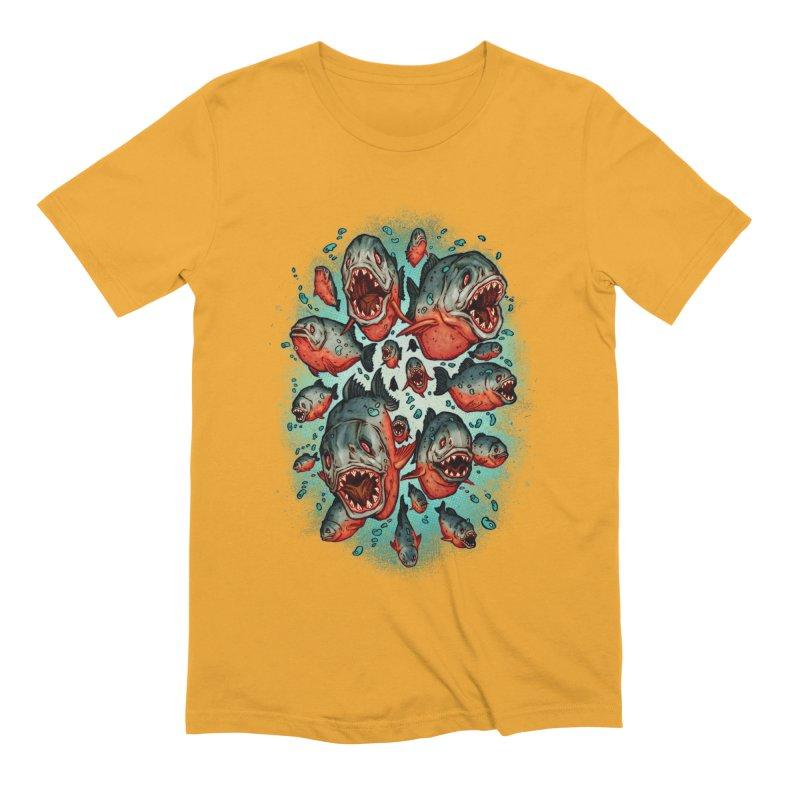 Frenzy Piranhas Men's Extra Soft T-Shirt by villainmazk's Artist Shop