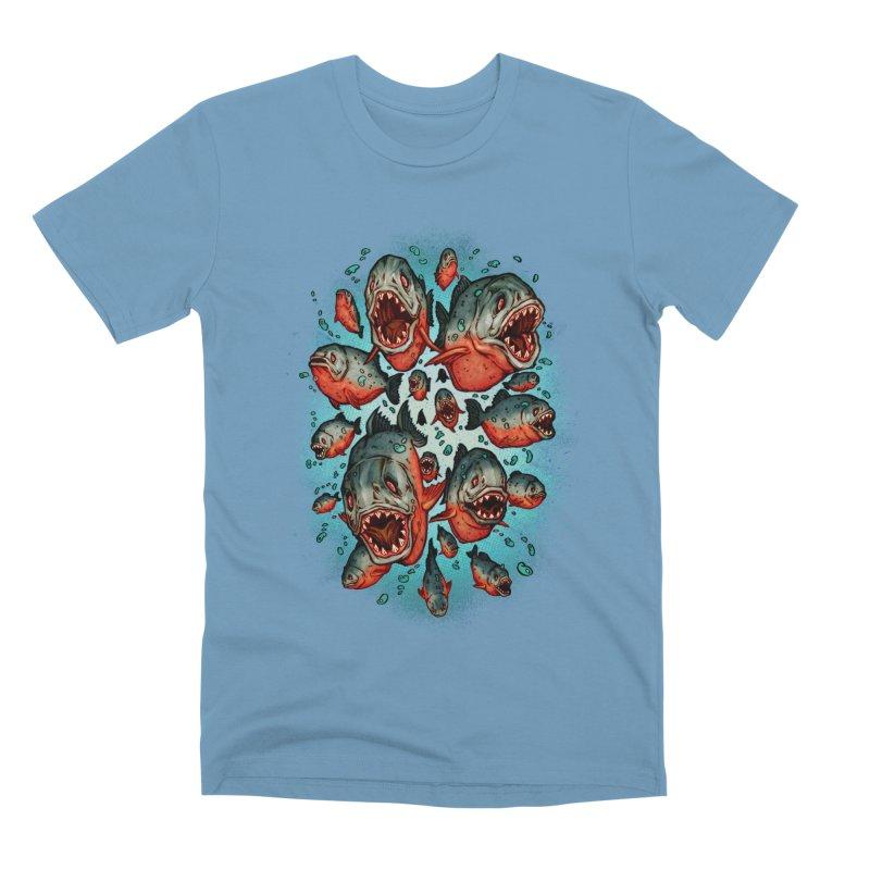 Frenzy Piranhas Men's Premium T-Shirt by villainmazk's Artist Shop