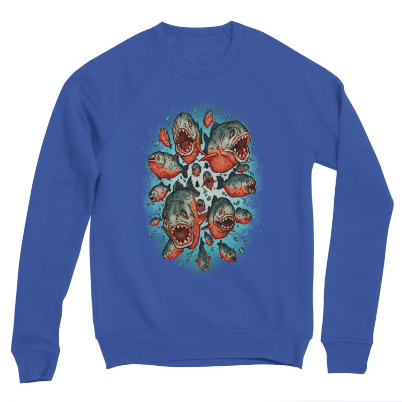 Frenzy Piranhas Men's Sponge Fleece Sweatshirt by villainmazk's Artist Shop