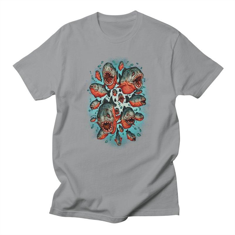 Frenzy Piranhas Women's Regular Unisex T-Shirt by villainmazk's Artist Shop