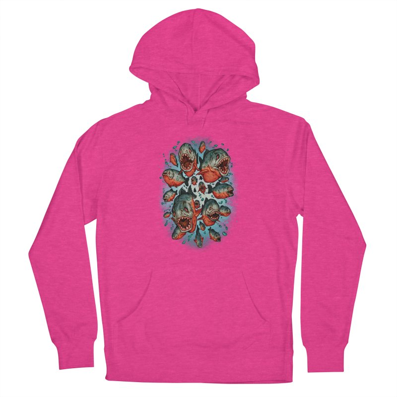 Frenzy Piranhas Women's French Terry Pullover Hoody by villainmazk's Artist Shop