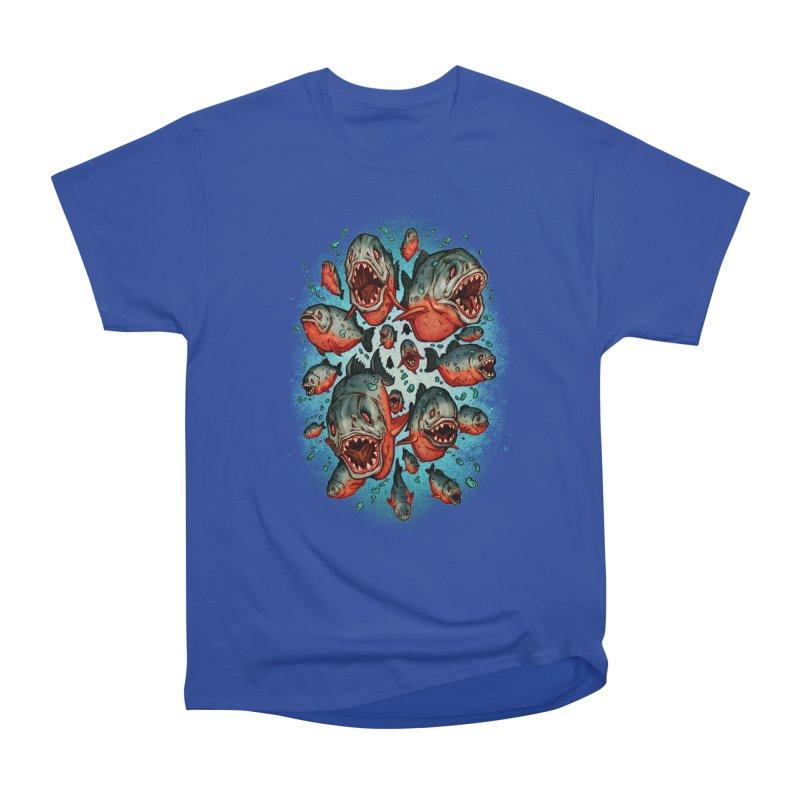 Frenzy Piranhas Men's Classic T-Shirt by villainmazk's Artist Shop