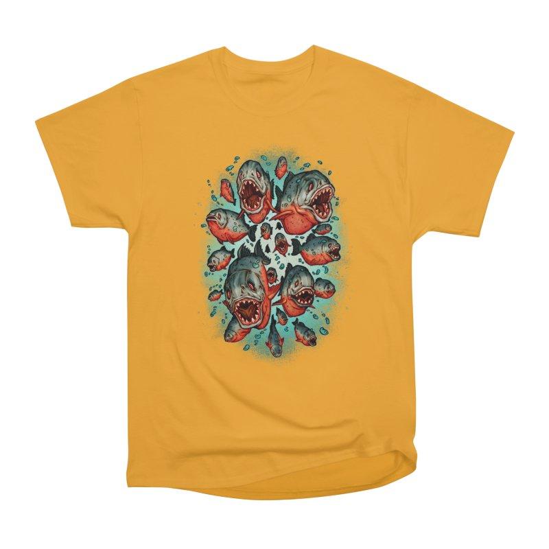 Frenzy Piranhas Men's Heavyweight T-Shirt by villainmazk's Artist Shop