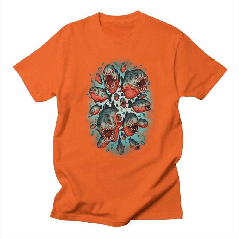 Frenzy Piranhas Men's T-Shirt by villainmazk's Artist Shop
