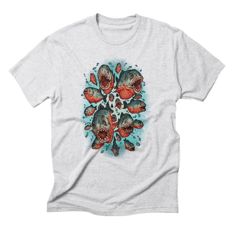 Frenzy Piranhas Men's Triblend T-Shirt by villainmazk's Artist Shop