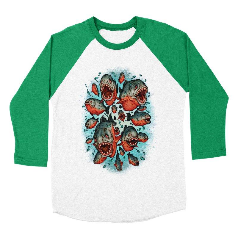 Frenzy Piranhas Women's Baseball Triblend Longsleeve T-Shirt by villainmazk's Artist Shop