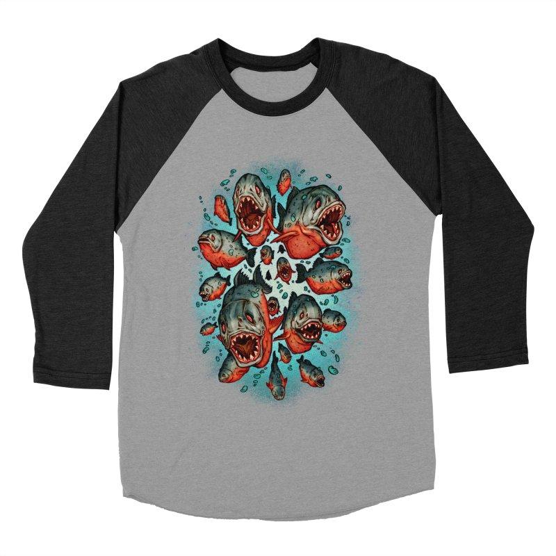 Frenzy Piranhas Women's Longsleeve T-Shirt by villainmazk's Artist Shop