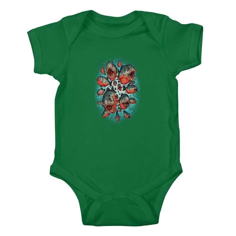Frenzy Piranhas Kids Baby Bodysuit by villainmazk's Artist Shop