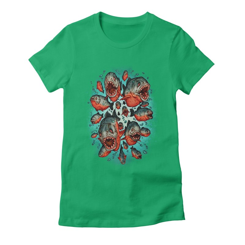 Frenzy Piranhas Women's T-Shirt by villainmazk's Artist Shop
