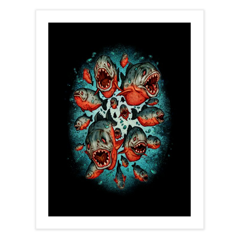 Frenzy Piranhas Home Fine Art Print by villainmazk's Artist Shop