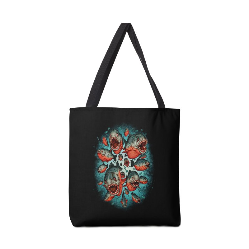 Frenzy Piranhas Accessories Tote Bag Bag by villainmazk's Artist Shop