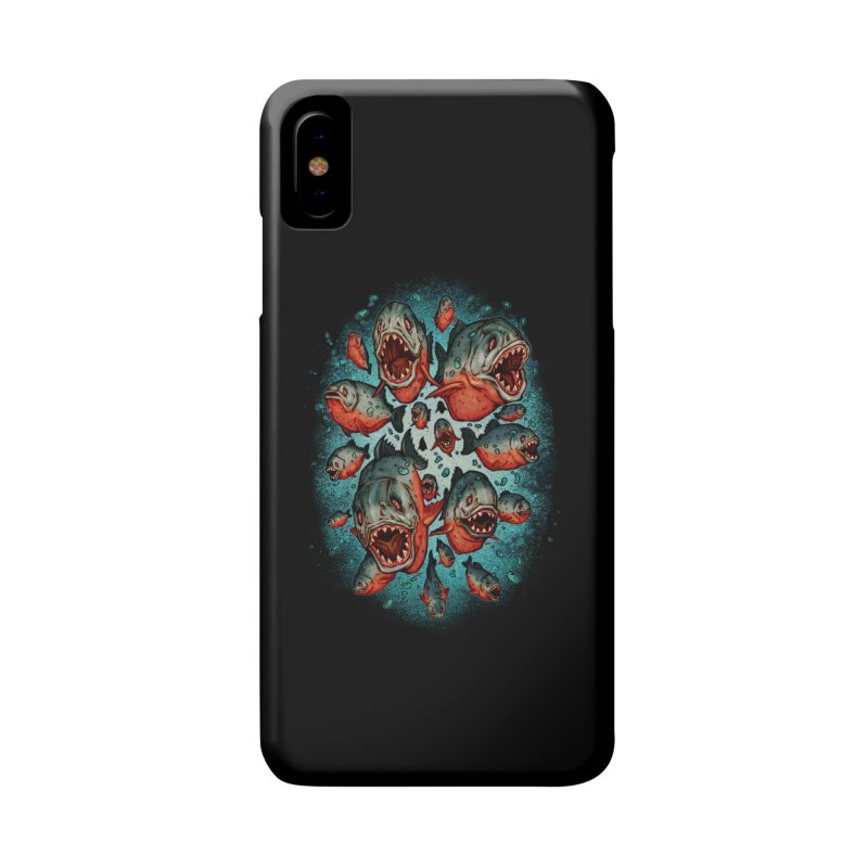 Frenzy Piranhas Accessories Phone Case by villainmazk's Artist Shop