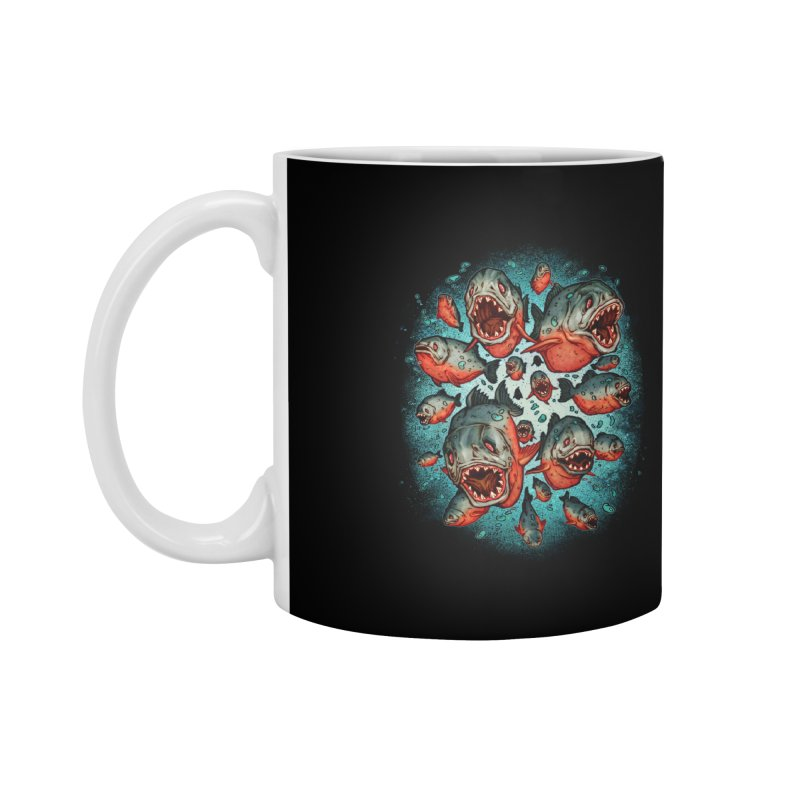 Frenzy Piranhas Accessories Mug by villainmazk's Artist Shop