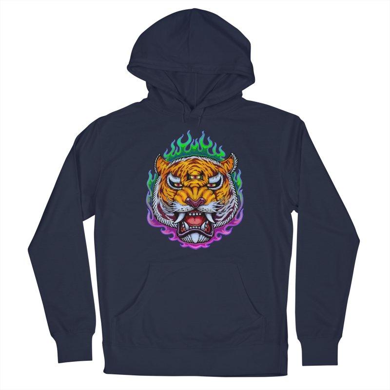 Third Eye Tiger Men's Pullover Hoody by villainmazk's Artist Shop