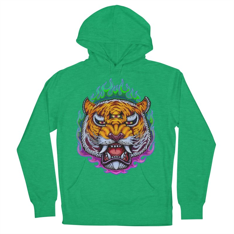 Third Eye Tiger Women's French Terry Pullover Hoody by villainmazk's Artist Shop