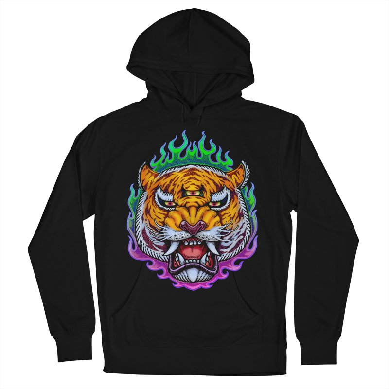 Third Eye Tiger Men's French Terry Pullover Hoody by villainmazk's Artist Shop