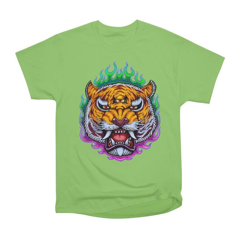 Third Eye Tiger Women's Heavyweight Unisex T-Shirt by villainmazk's Artist Shop