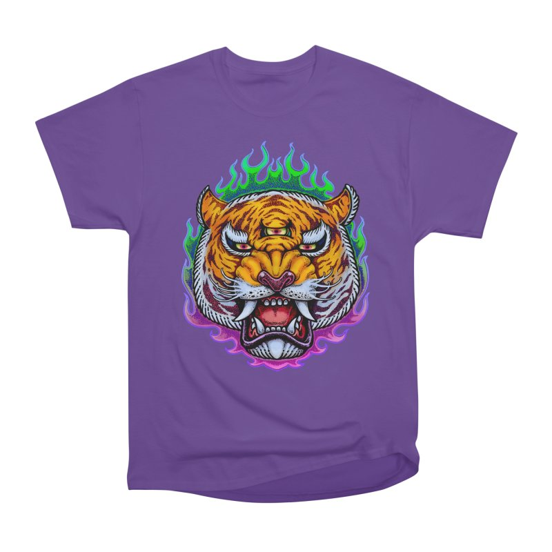 Third Eye Tiger Men's Heavyweight T-Shirt by villainmazk's Artist Shop