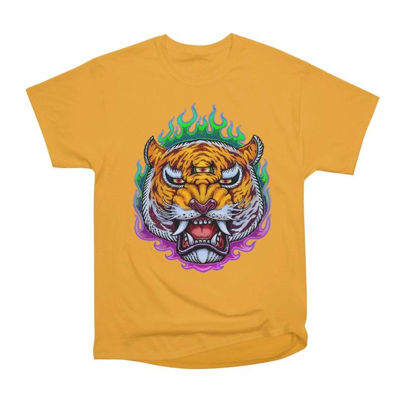 Third Eye Tiger Men's Heavyweight T-Shirt by villainmazk's Artist Shop