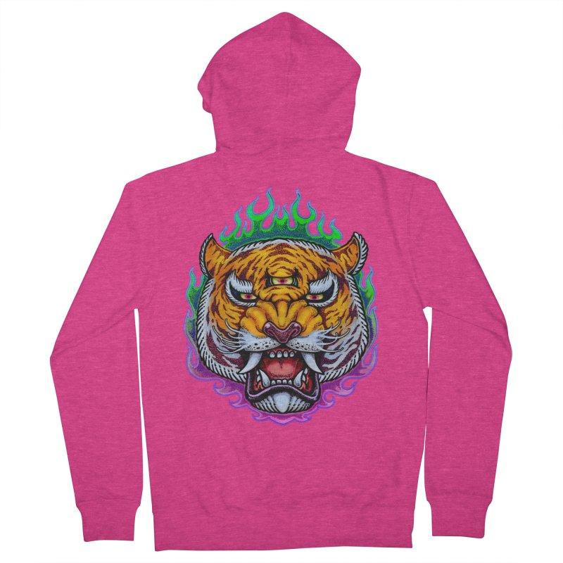 Third Eye Tiger Women's French Terry Zip-Up Hoody by villainmazk's Artist Shop