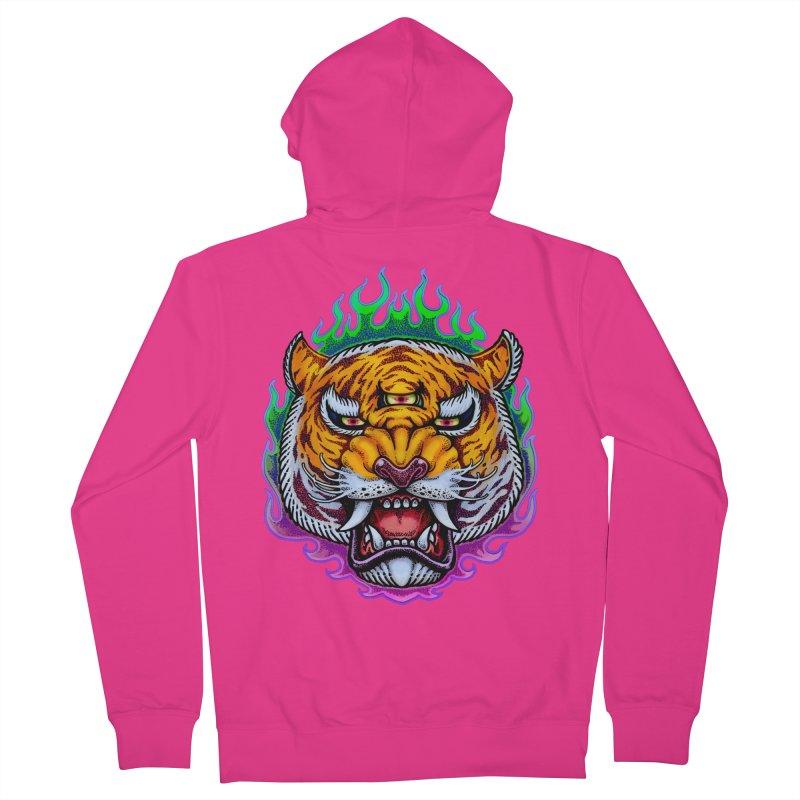 Third Eye Tiger Men's Zip-Up Hoody by villainmazk's Artist Shop
