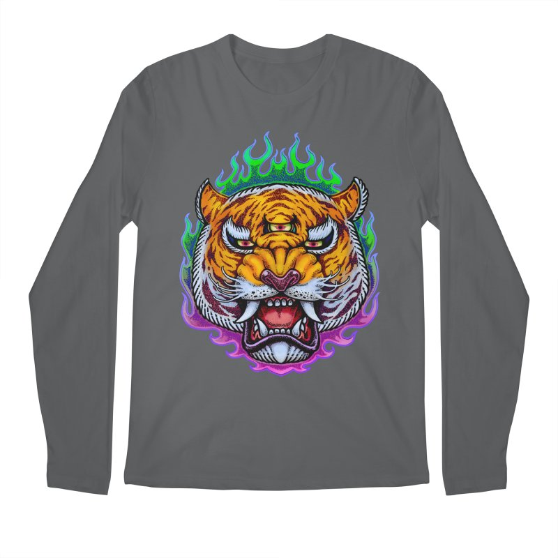 Third Eye Tiger Men's Longsleeve T-Shirt by villainmazk's Artist Shop