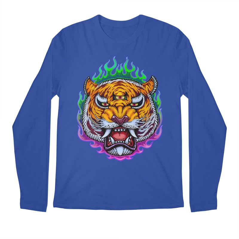 Third Eye Tiger Men's Regular Longsleeve T-Shirt by villainmazk's Artist Shop