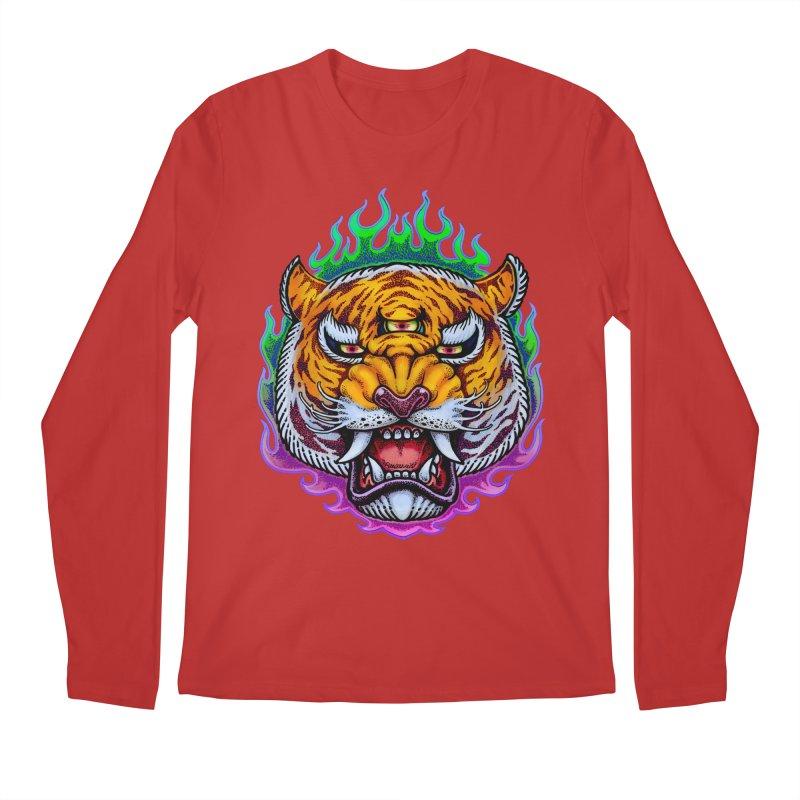 Third Eye Tiger Men's Longsleeve T-Shirt by villainmazk's Artist Shop