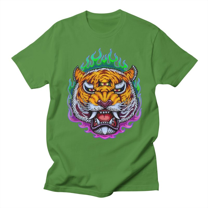 Third Eye Tiger Women's Regular Unisex T-Shirt by villainmazk's Artist Shop