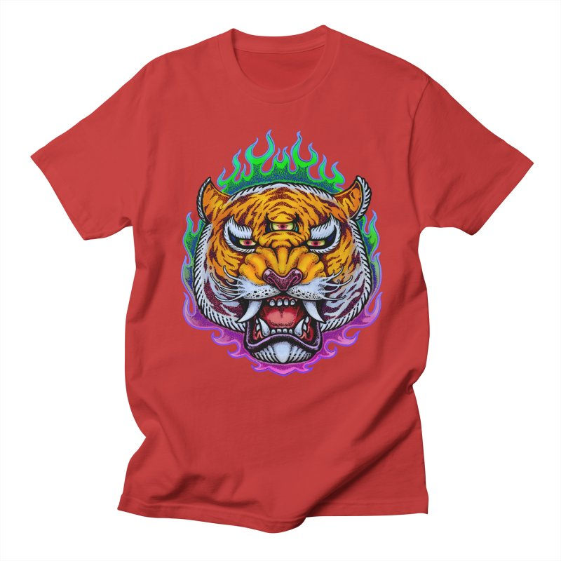 Third Eye Tiger Men's Regular T-Shirt by villainmazk's Artist Shop