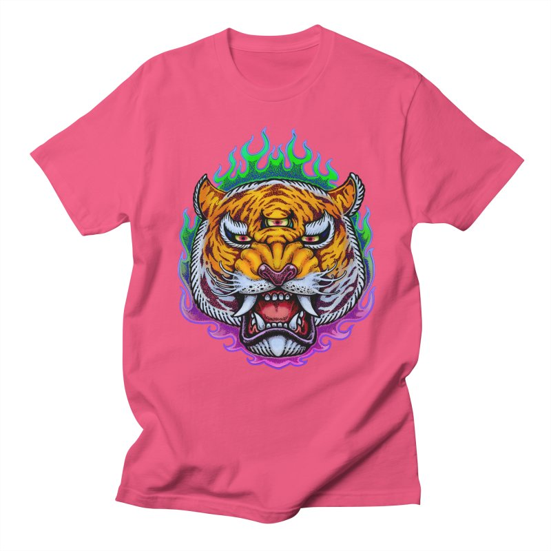 Third Eye Tiger Men's T-Shirt by villainmazk's Artist Shop