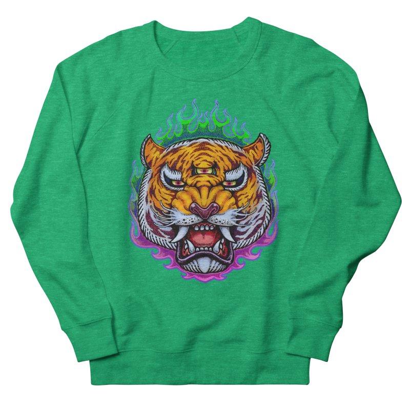 Third Eye Tiger Women's French Terry Sweatshirt by villainmazk's Artist Shop
