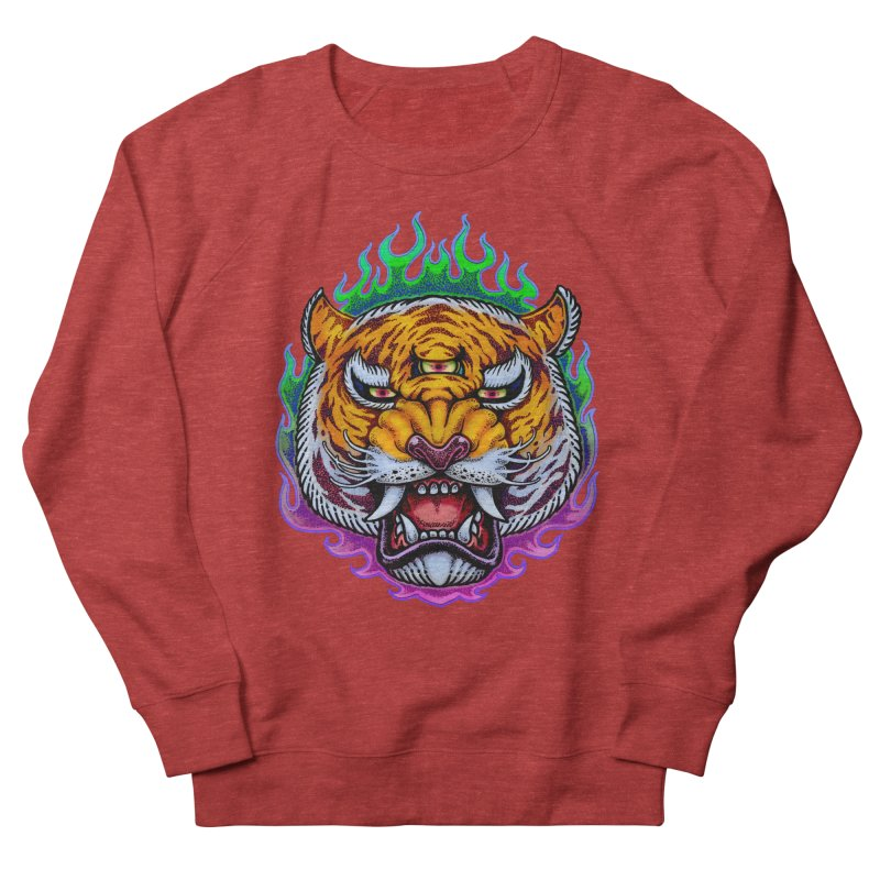 Third Eye Tiger Women's French Terry Sweatshirt by villainmazk's Artist Shop