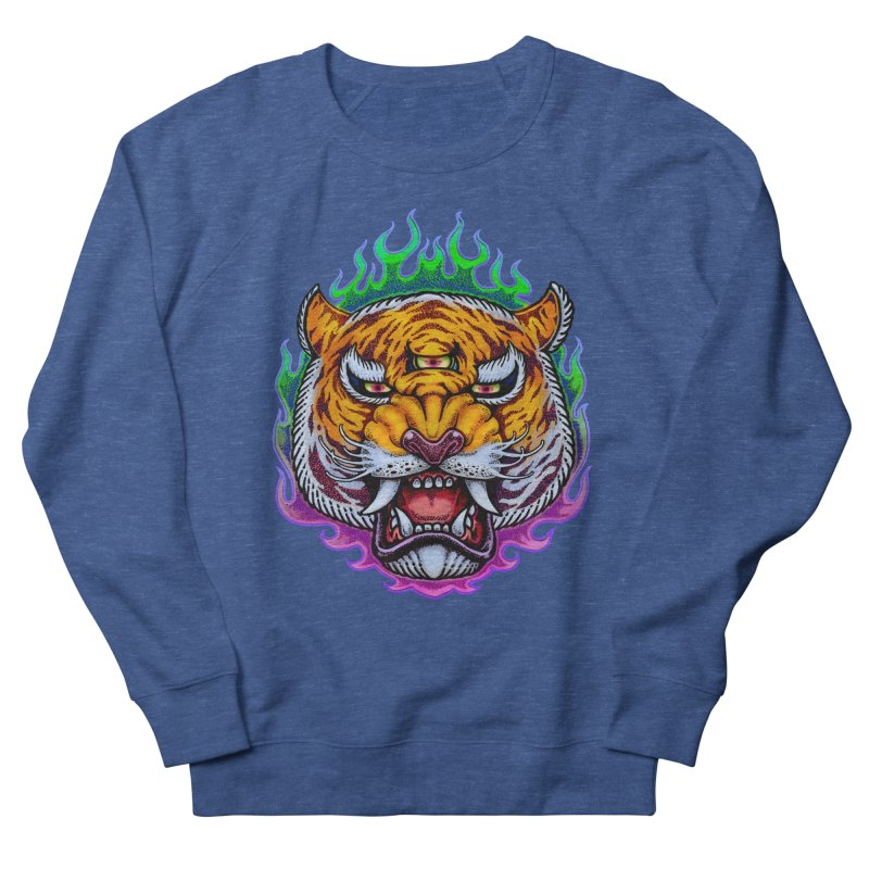 Third Eye Tiger Men's Sweatshirt by villainmazk's Artist Shop