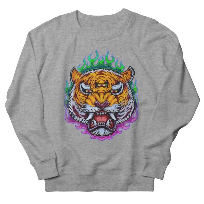 Third Eye Tiger Men's French Terry Sweatshirt by villainmazk's Artist Shop