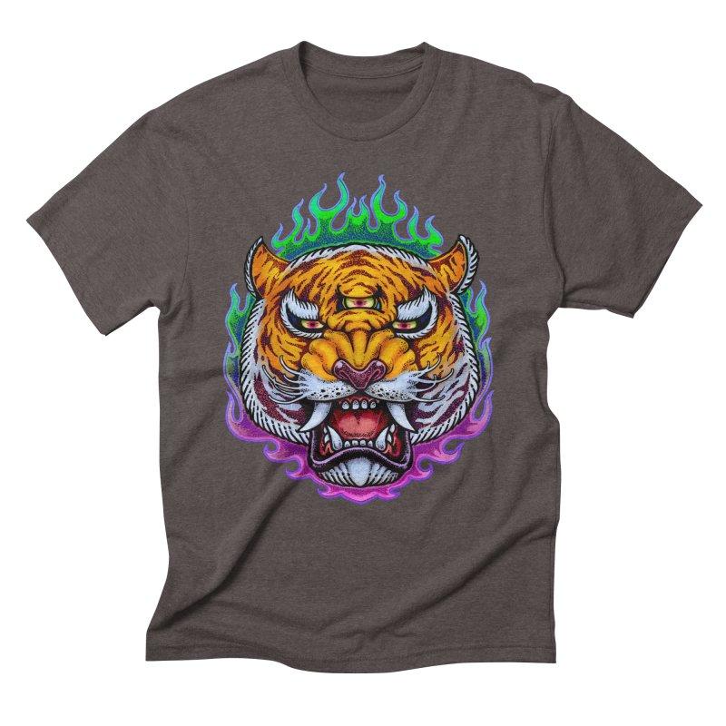 Third Eye Tiger Men's Triblend T-Shirt by villainmazk's Artist Shop