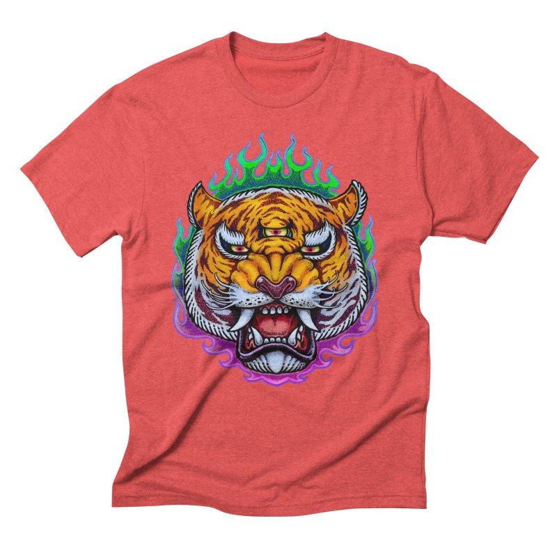 Third Eye Tiger Men's T-Shirt by villainmazk's Artist Shop