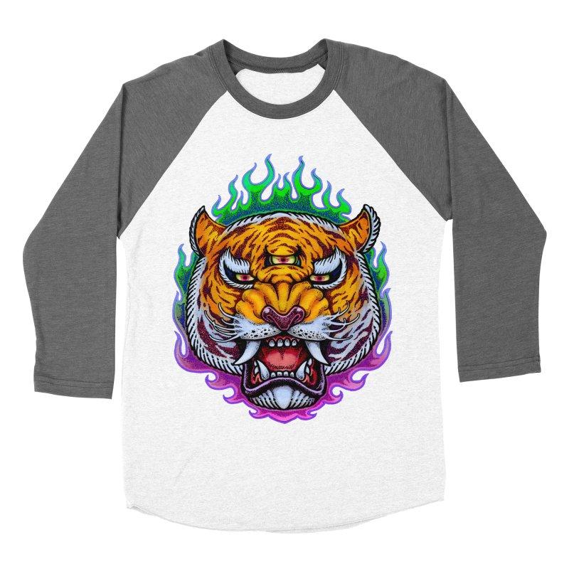Third Eye Tiger Women's Baseball Triblend Longsleeve T-Shirt by villainmazk's Artist Shop