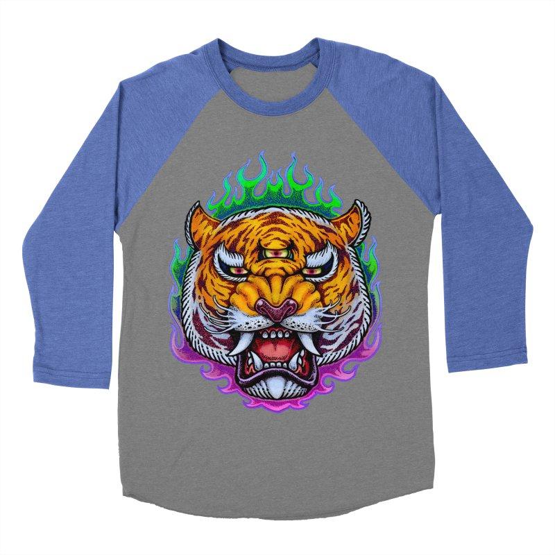 Third Eye Tiger Men's Baseball Triblend Longsleeve T-Shirt by villainmazk's Artist Shop