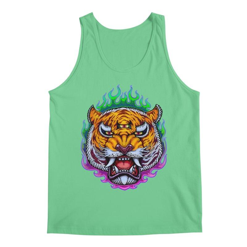 Third Eye Tiger Men's Tank by villainmazk's Artist Shop