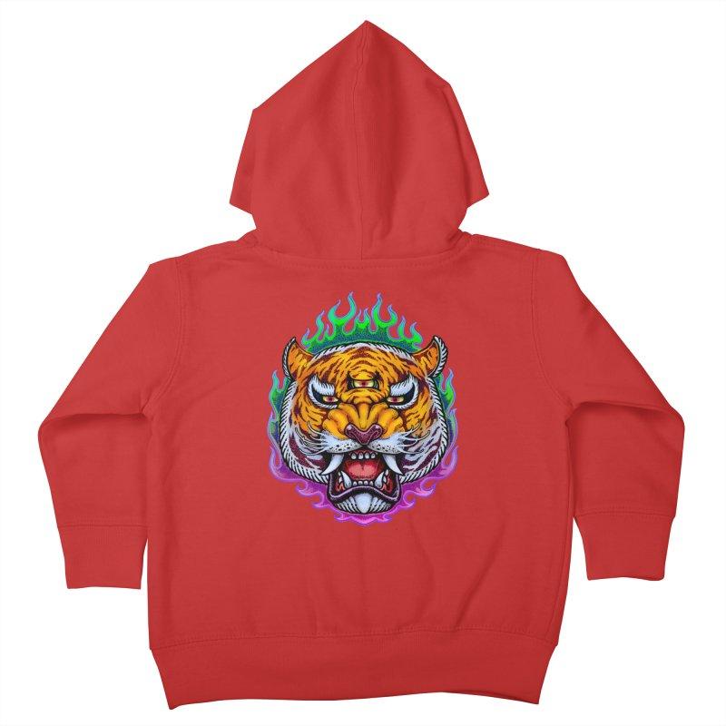 Third Eye Tiger Kids Toddler Zip-Up Hoody by villainmazk's Artist Shop