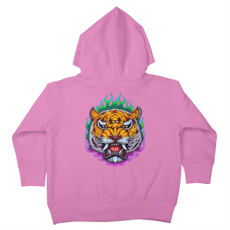 Third Eye Tiger Kids Toddler Zip-Up Hoody by villainmazk's Artist Shop