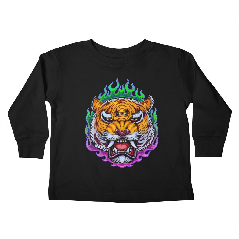 Third Eye Tiger Kids Toddler Longsleeve T-Shirt by villainmazk's Artist Shop