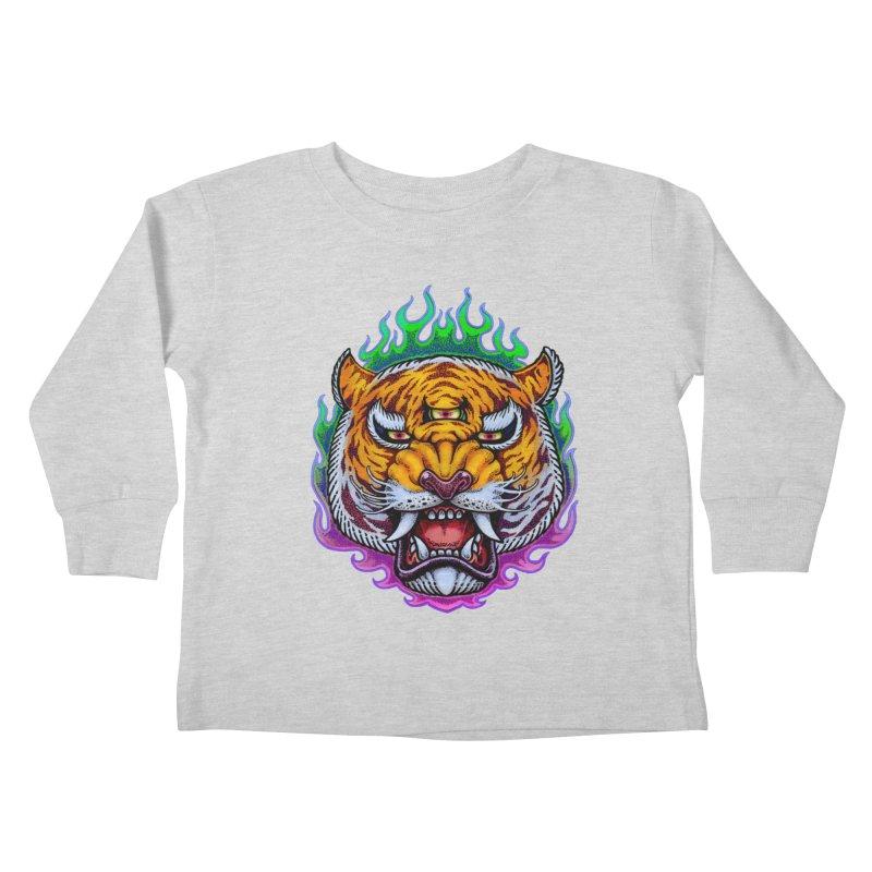 Third Eye Tiger Kids Toddler Longsleeve T-Shirt by villainmazk's Artist Shop