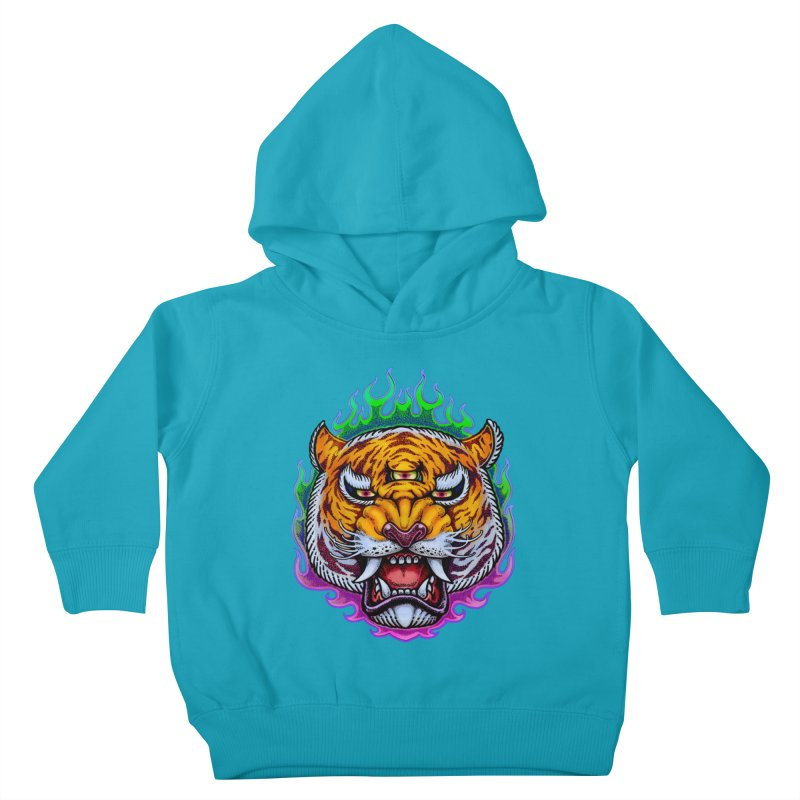 Third Eye Tiger Kids Toddler Pullover Hoody by villainmazk's Artist Shop