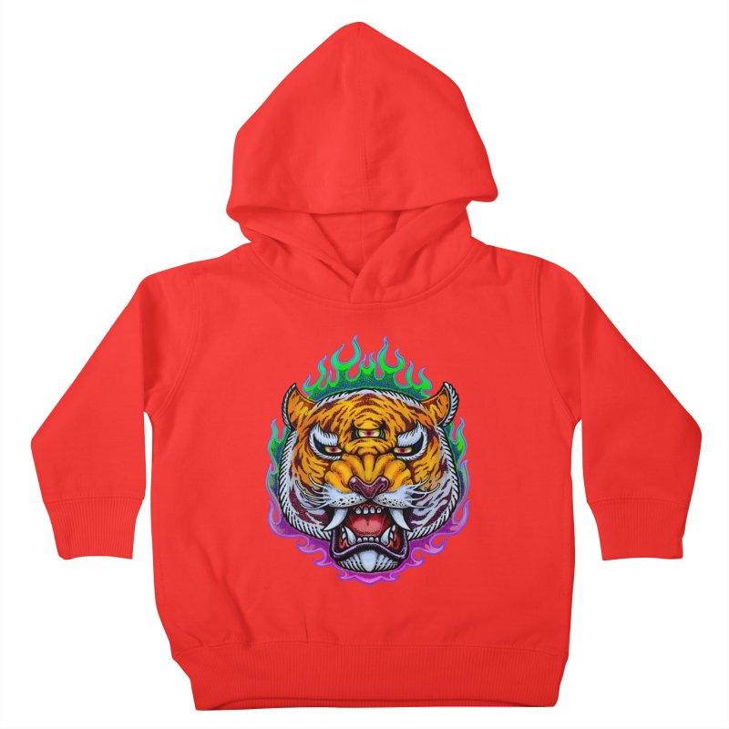 Third Eye Tiger Kids Toddler Pullover Hoody by villainmazk's Artist Shop