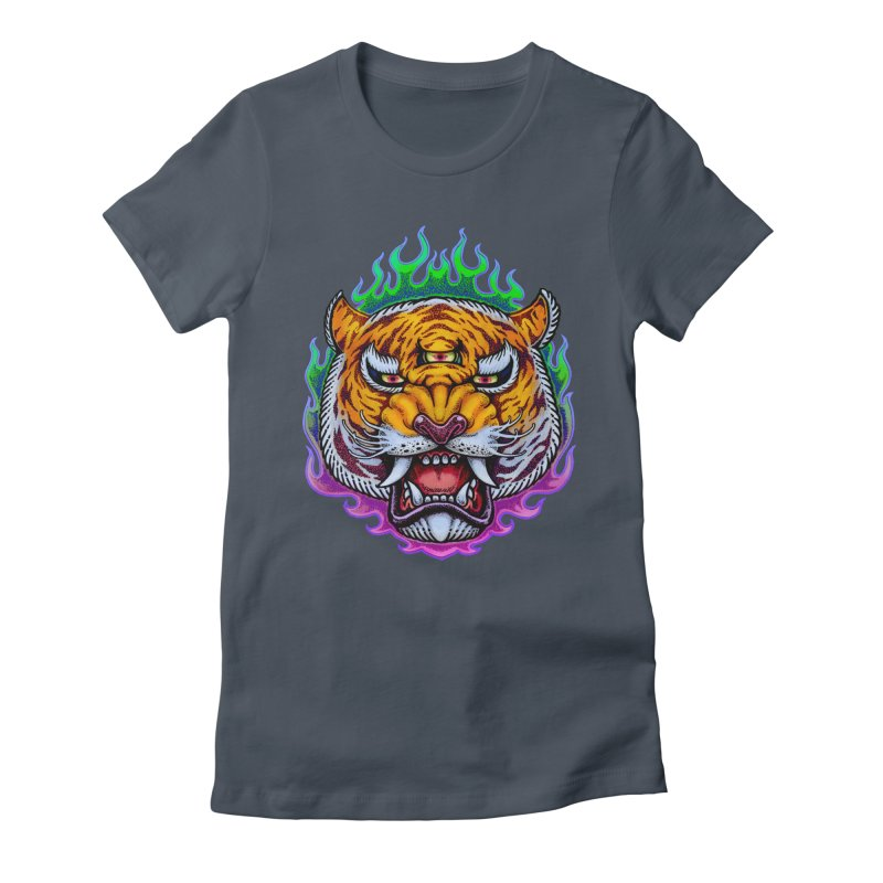 Third Eye Tiger Women's T-Shirt by villainmazk's Artist Shop